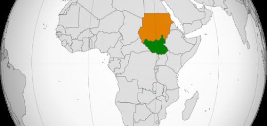 מפת סודן