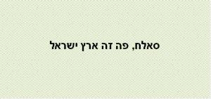 סאלח פה זה ארץ ישראל